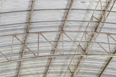 Carpark metal roof structure, steel industrial building Royalty Free Stock Photography