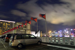 Carpark at Nice night view morden building, Hong Kong Royalty Free Stock Photos