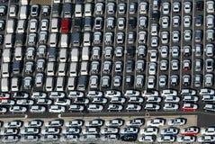 Carpark pieno. Fotografie Stock Libere da Diritti