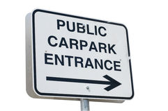 Carpark Sign Royalty Free Stock Photo