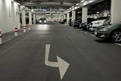 Carpark sotterraneo Fotografia Stock Libera da Diritti