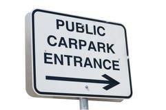 Carpark znak Zdjęcie Royalty Free