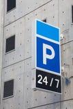 Carpark znak Zdjęcia Stock