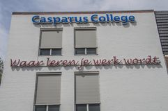 Carparus College At Weesp The Netherlands 2018.  stock image