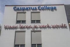 Carparus högskola på Weesp Nederländerna 2018 fotografering för bildbyråer