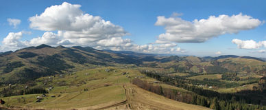 Carpathian's panorama. Royalty Free Stock Photos