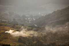 Carpathian afton Arkivbilder