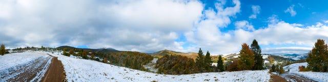 Carpathian autumn mountain panorama Stock Photos