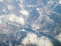 Carpathian berg från himlen Arkivbilder
