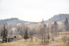 Carpathian bygd. Royaltyfria Bilder