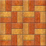 Wooden decorative tiles - cassette floor - Seamless background. Carpathian Elm wood texture, decorative tiles - cassette floor - Seamless background - Interior Royalty Free Stock Images