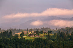Carpathian evening after thunderstorm Stock Photography