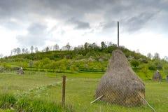 Carpathian haystack Romania Stock Image