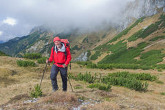 Carpathian hiker in Beler Tatra Mountains, Western Carpathians, Slovakia Stock Images