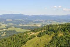 Carpathian hills Royalty Free Stock Photos