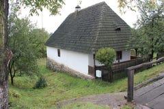 Carpathian house. Carpathian old house. open-air museum royalty free stock image
