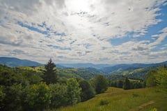 Carpathian kullar för bakgrund Fotografering för Bildbyråer