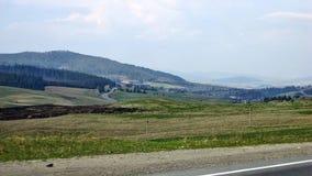 Carpathian landscape. Carpathian Beautiful landscape on the road Kyiv-Chop Stock Photos