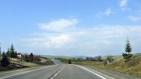 Carpathian landscape. The road in the Carpathians Stock Photography