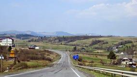 Carpathian landscape. The road in the Carpathians Stock Photos
