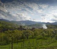 Carpathian landscape Romania Stock Photos