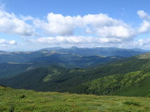 Carpathian landscape. In summer sunny day Stock Photography