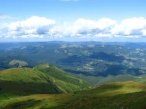 Carpathian landscape. In summer sunny day, Ukraine Royalty Free Stock Photography