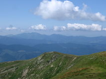 Carpathian landscape. In summer sunny day, Ukraine Royalty Free Stock Image