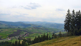 Carpathian landscape. View from Gymba mountains in the Ukrainian Carpathians Royalty Free Stock Image