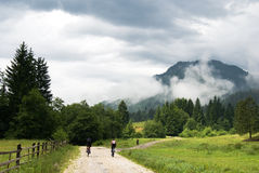 carpathian liggande Arkivbilder
