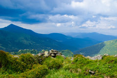 Carpathian montains view Royalty Free Stock Image