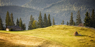 Carpathian mountain hills Royalty Free Stock Images