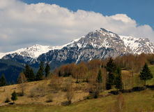 Carpathian mountain landscape stock images
