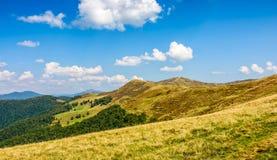 Carpathian Mountain Ridge in late summer Stock Photography