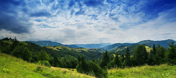 Carpathian mountain Stock Images