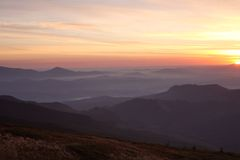 Carpathian Mountains. Beautiful views of the Carpathian Mountains royalty free stock photos