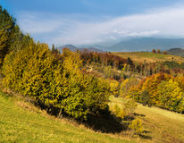 Carpathian Mountains in autumn. Stock Image