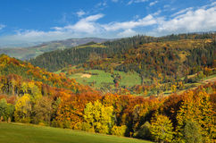 Carpathian Mountains in autumn. Royalty Free Stock Photo