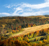 Carpathian Mountains in autumn. Royalty Free Stock Image