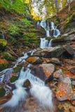 Carpathian Mountains. Autumn Waterfall Shipot Stock Photos