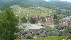 Carpathian Mountains. Beautiful mountains in Western Ukraine, Bukovel Stock Photo