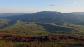 Carpathian Mountains Bird Flight stock footage