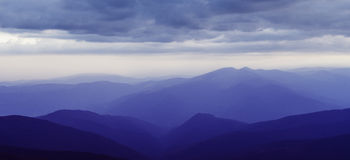 Carpathian Mountains at dusk Royalty Free Stock Image