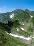 Carpathian Mountains, Fagaras ridge top of Romania Royalty Free Stock Image
