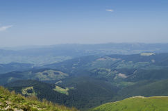 Carpathian mountains landscape and forest. Stock Images