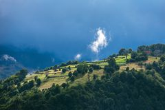Carpathian mountains landscape in Romania Royalty Free Stock Images