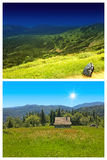 Carpathian mountains landscape Stock Images