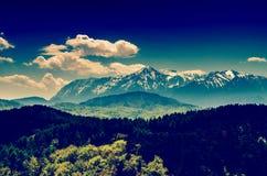Carpathian Mountains Landscape In Summertime Stock Images