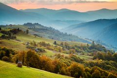 Carpathian mountains landscape Stock Image