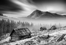 Carpathian Mountains. Monochrome Colors Stock Images